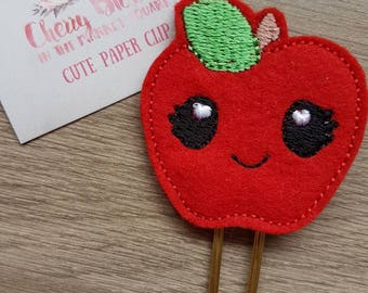 Smile Kawaii Teacher Apple Paper Clip