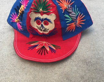 The Vintage Stitched Circus Monkey Baseball Cap