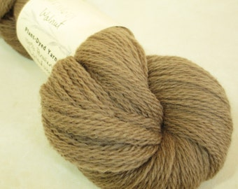 Walnut-Dyed Wool Yarn -- Plant-Dyed Fingering Weight - YAF111601 - 100 grams