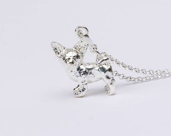 Chihuahua 3D Sterling Silver Necklace