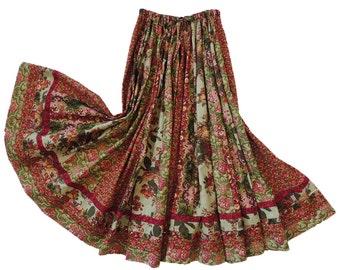Long Panel Gypsy Patchwork Skirt