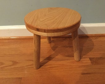 Oak Stool, Round Top