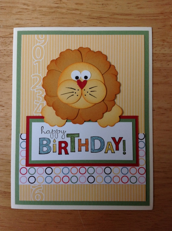 Items similar to Stampin Up handmade birthday card - cute ...
