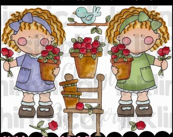 Frannie's Flowers Clipart Collection- Immediate Download