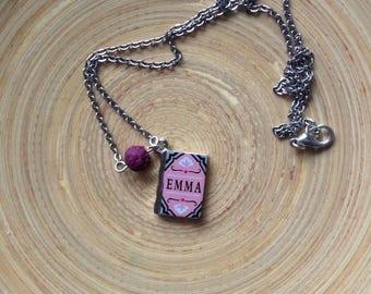 Jane austen, emma, diffuser necklace, diffuser jewelry, lava bead, lava stone, diffuse necklace, lava necklace, diffuse jewelry