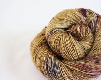 Calamity Jane - House Wren - 85/15 superwash merino/ nylon tweed sock yarn