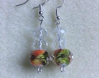 DesignsbyKiko Orange Delight Dangle Earrings