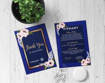 Piphany Custom Digital Thank you postcard -Fashion Consultant-Floral Design- 5x7