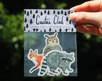 Forest Animals Sticker Pack