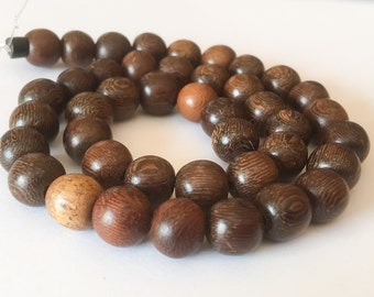 42 Robles Wood Beads, Round Wood Beads, Natural Wood Beads, 10mm