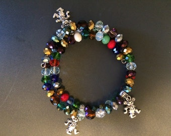 Dancing bear wrap bracelet