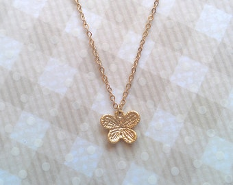 Butterfly necklace, butterfly charm, gold charm necklace, gold butterfly, charm necklace, gold necklace, cute necklace, cute gold necklace