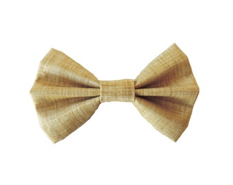 Gold Fabric Bow Hair Clips or Bow Ties Mustard Bow Tie - dainty and Dapper - Gold, Mustard