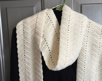 Very Long Ivory Scarf