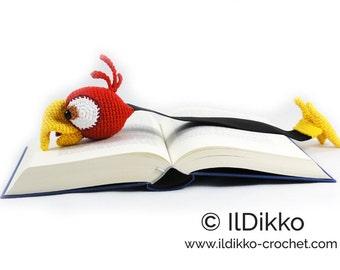 Amigurumi Crochet Pattern - Chili the Parrot Bookmark - English Version