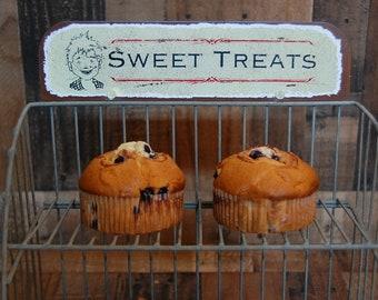 Vintage Sweet Treat Reproduction Rack, general store candy, cake, sweets metal display rack, store counter display rack