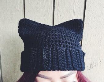 Pussy (cat) hat (project) - Black