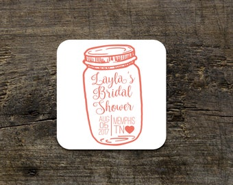 Personalized Wedding Coaster, Custom Bridal Coaster, Custom Table Decor, Wedding Decor, Wedding Decoration, Table Decoration, Names and Date