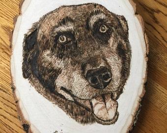 Woodburned Portraits
