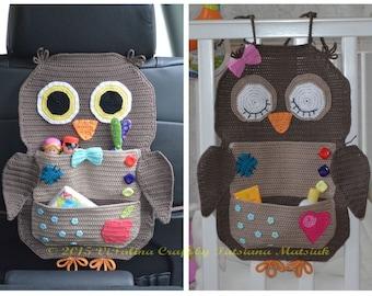 Crochet Pattern - Owl Treasure Organiser