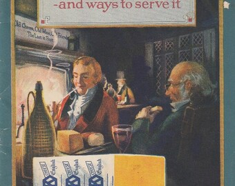 Cheese and Ways To Serve It Kraft Cheese Co c1930s Booklet Many Delicious Recipes