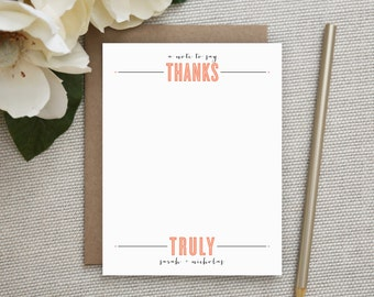 Personalized Stationery. Personalized Thank You Notes. Stationary. Note. Note Cards. Notecards. Personalized. Thank You Notes. Bold THANKS.