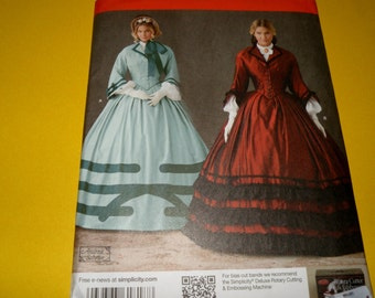 Simplicity Civil War era Gown 16-24 Uncut