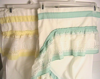 Curtains, Vintage Kitchen Church Curtains