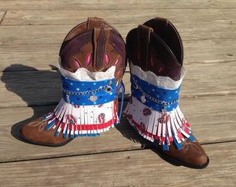 READY TO SHIP!!! Patriotic Boot Covers