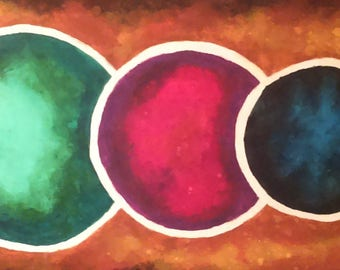 Circle II- Original Watercolor Painting