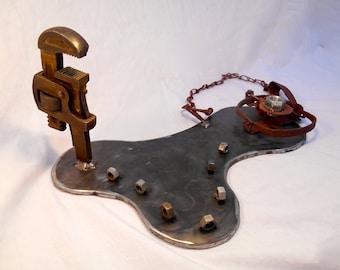 Upcycled Tool Art, Rustic Wrench Art, Repurposed Whimsical Metal Sculpture,Rustic Decor,Repurposed Metal, Recycled tool Art