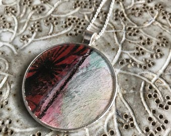 Modern Abstract Necklace-Resin Bezel