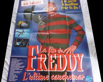 1991 late Freddy movie poster original 120X160cm very good condition/vgc