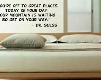 You're off to great places Dr. Suess Wall Decal Sticker Teen Room Decor