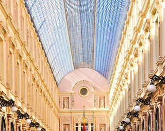 Brussels Photography, Unique Architecture of Les Galeries Royales Saint-Hubert in Brussels, Belgium, Europe Architecture, Archways