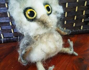 Rustic Needle Felted Owl
