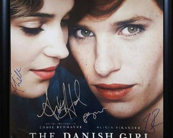 The Danish Girl - Signed Movie Poster in Wood Frame with COA