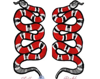 Large coat of arms embroidered snake fusible big snake patch 26 cm