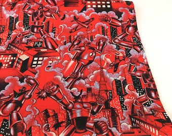 New Fabric ~ Tokyo Bots Red Color ~ Nicole's Prints for Alexander Henry Fabrics ~ Cotton Quilt Fabric