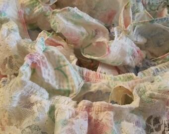 Ruffled White Lace