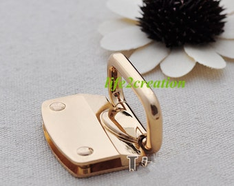 Large Leather Clip with D Rings, Gold Handbag Connector,Leather Clip,Chain Connector, Webbing Clip Inner 28mm 2pc gold&gunmetal 10308-038