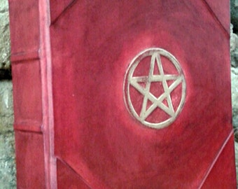 book of shadows-wicca-REFILLABLE- Pentacle, grimoire, blank pages