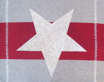 Coupon fabric Panel tapestry Star (red)