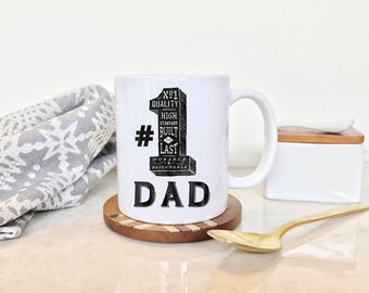 Number 1 Dad Mug, Awesome Father Mug, Father's Day Mug, Birthday Gift for Dad, New Dad Mug, Greatest Dad Mug, New Dad Coffee Mug, New Dad