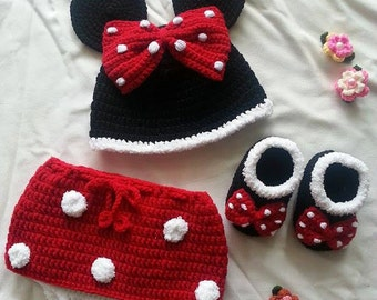Minnie Mouse set for newborn
