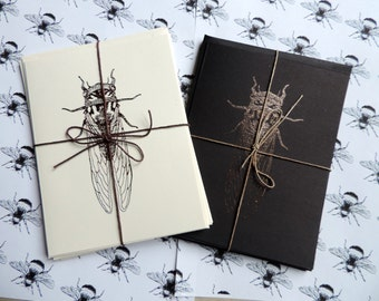 Insect stationery || 4 pc card and envelope set