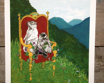 Marmot Royalty Print