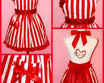 The Bettie - Retro Inspired Glitter Pinup Apron
