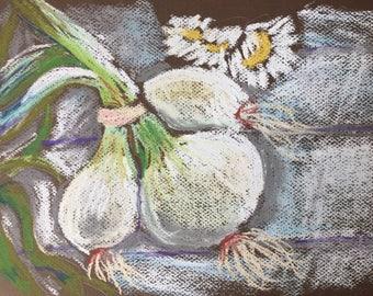 Original soft pastel still life art