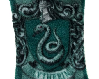Medium Slytherin Harry Potter Fleece Reversible Snuggle Sack for Hedgehogs, Rabbits, Guinea pigs, Sugar Gliders, Hamster and Small Reptiles.